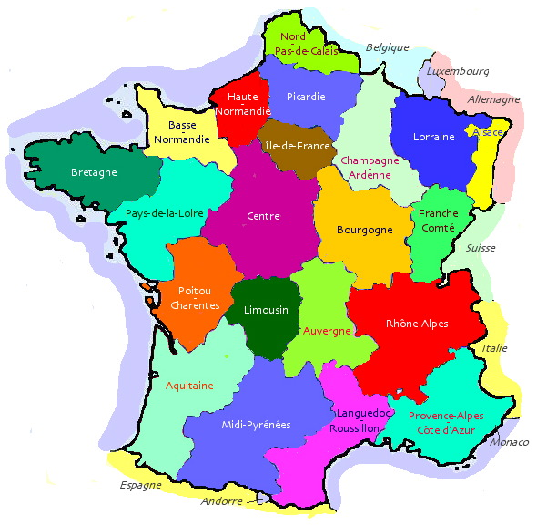 Регионы франции — régions de france