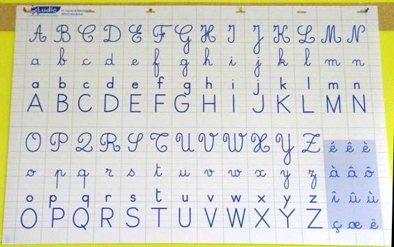 французский алфавит письменный фото