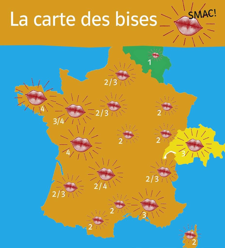 карта поцелуев